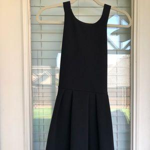 Little black dress, halter mini